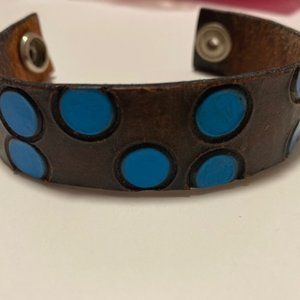 Jewelry - 🔴 2 for $20/Artisan-made leather cuff